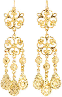 Jose & Maria Barrera Filigree Dangle Earrings