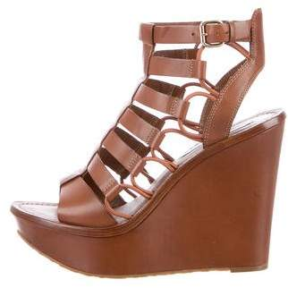 Diane von Furstenberg Gladiator Wedge Sandals