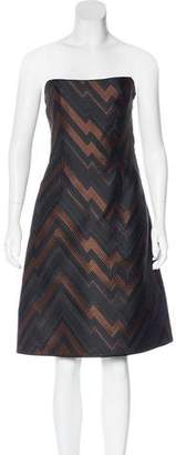 Akris Punto Jacquard Strapless Dress w/ Tags