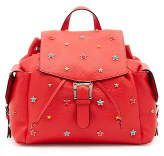 RED Valentino Geranio Star Leather Backpack