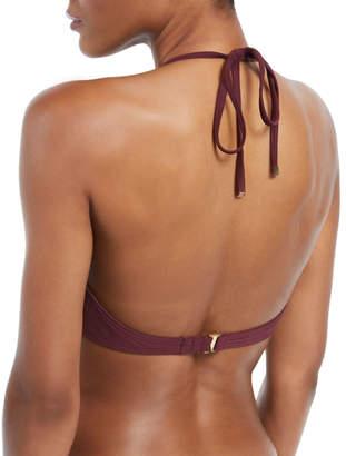 Kate Spade isal vista ruffled halter bikini swim top