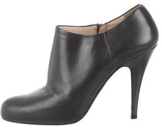 pradaPrada Metallic Leather Booties