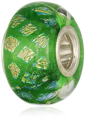 Murano Chamilia Sterling Silver and Glass Opulence Green Bead Charm