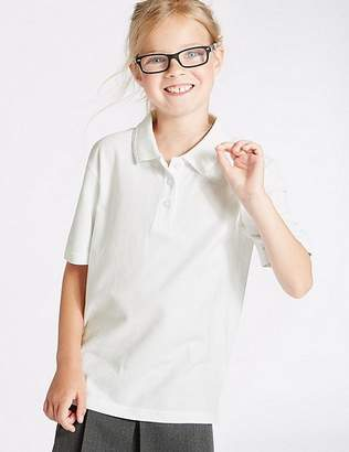 Marks and Spencer 3 Pack Girls' Pure Cotton Polo Shirts