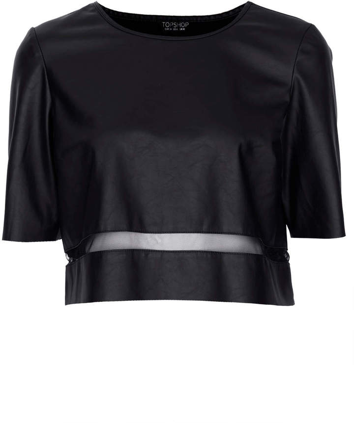 Topshop Leather look tee