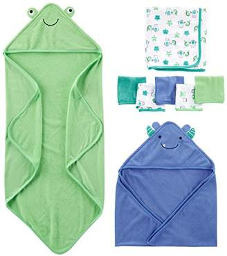 Carter's Simple Joys by Baby Boys' 8-Piece Towel and Washcloth Set