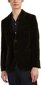 Officine Generale Men's Cotton Velvet Two-Button Sportcoat - Olive