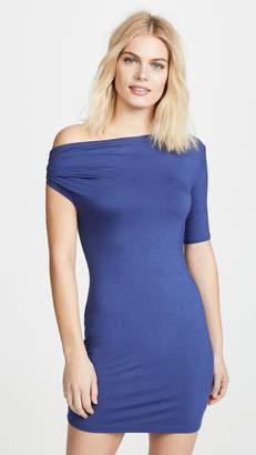 Enza Costa Exposed Shoulder Mini Dress