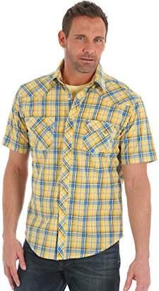 Wrangler Men's Tough Enough to Wear Pink Button Front Shirt