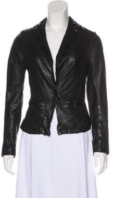 AllSaints Casual Leather Blazer