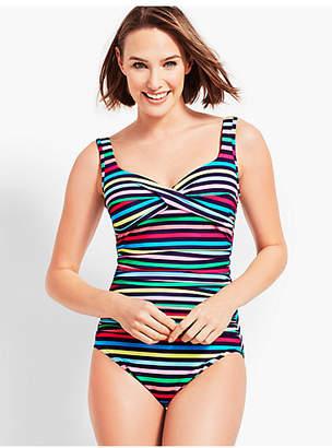 Talbots Marina Multi Stripe Swim Suit