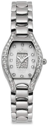 Croton Womens Diamond-Accent Stainless Steel Watch