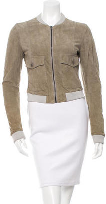 Boy. by Band of Outsiders Suede Bomber Jacket $425 thestylecure.com