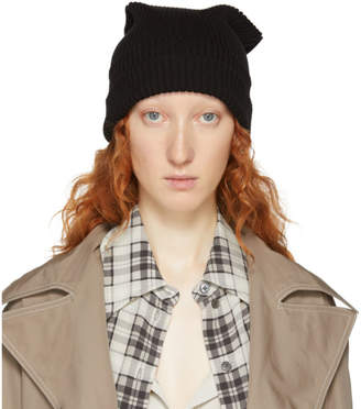 Marc Jacobs Black Redux Grunge Solid Beanie