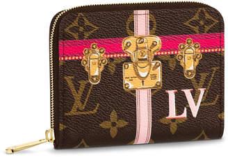 Louis Vuitton Coin Purse Zippy Monogram Summer Trunk Collection Brown/Pink