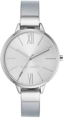 Nine West Ladies Silvertone Tingdeigh Bangle Watch