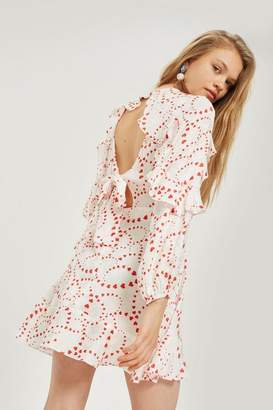 Topshop Heart Jacquard Tea Dress