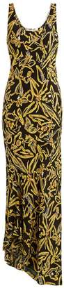 Diane von Furstenberg Elsden Print Scoop Neck Silk Crepe Dress - Womens - Black Yellow