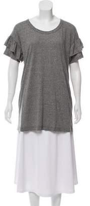 Current/Elliott Ruffled Scoop Neck T-Shirt