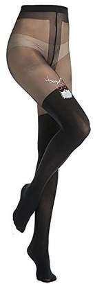 Stocking Fox Women's Christmas Santa Claus Prints Tights Pants