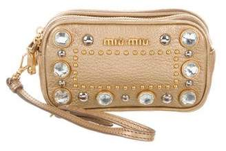 Miu Miu Embellished Wristlet Clutch 1d9171c20dc8b