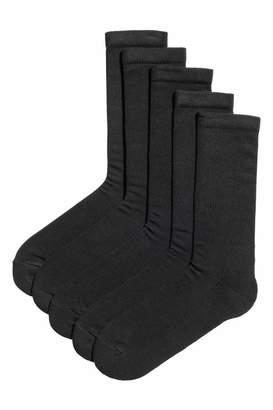 H&M 5-pack Socks - Black - Men
