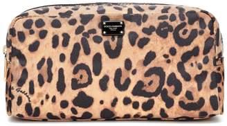 Dolce & Gabbana Leopard print cosmetics case