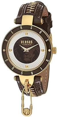 Versus By Versace Women's 'KEY BISCAYNE II' Quartz Stainless Steel and Leather Casual Watch