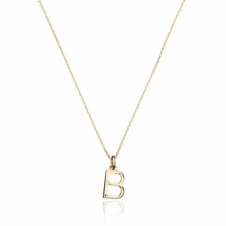 Lily & Roo Solid Gold Small Initial Letter Charm Necklace