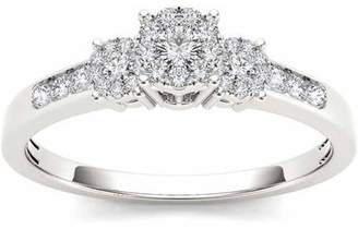 Trilogy Imperial Diamond Imperial 1/3 Carat T.W. Diamond 10kt White Gold Engagement Ring