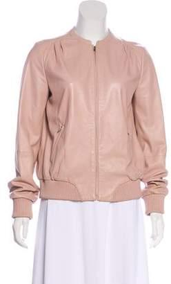 Halston Long Sleeve Leather Jacket