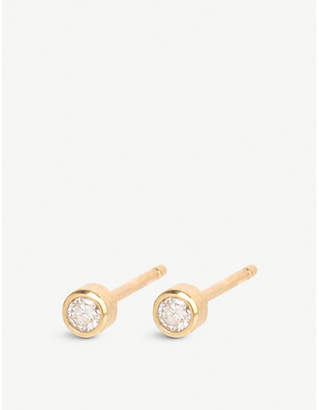Chicco The Alkemistry Zoë 14ct yellow-gold and diamond stud earrings