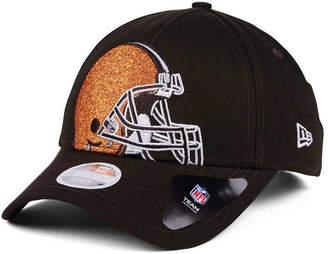 New Era Women's Cleveland Browns Glitter Glam 9TWENTY Strapback Cap