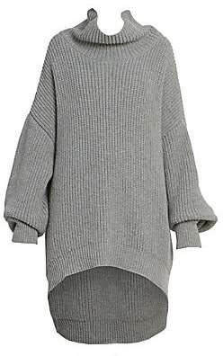 Givenchy Women's Oversized Ribbed Turtleneck Knit