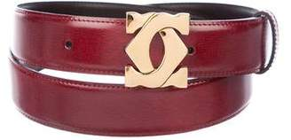 Cartier Leather Logo Buckle Belt
