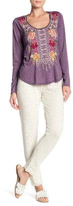 Johnny Was Eyelet Lace Pants