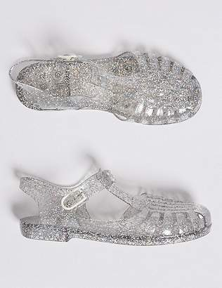 Marks and Spencer Kids' Glitter Jelly Sandals (13 Small - 6 Large)