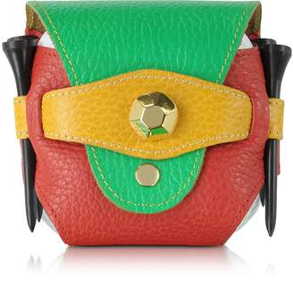 Fontanelli Multicolor Leather Golfball Holder
