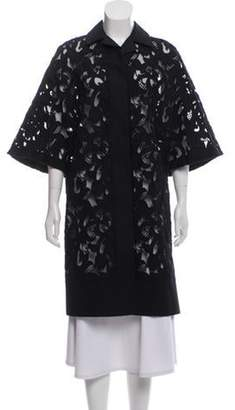 Burberry Lace Knee-Length Coat Black Lace Knee-Length Coat