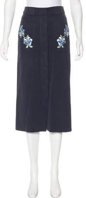 Vilshenko Embellished Midi Skirt
