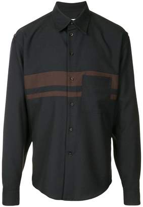 Marni double striped shirt