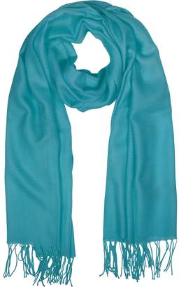 Mila Schon Wool and Cashmere Fringed Stole