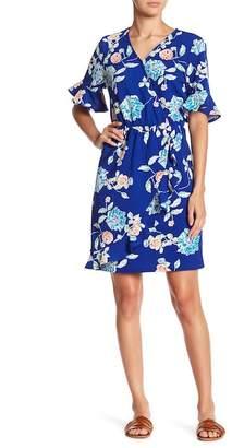 Pleione Floral Faux Wrap Dress