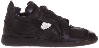 Maison Margiela Sneakers Men's Sneakers Lace-up Leather With Contrasting Stripes And Rubber Sole