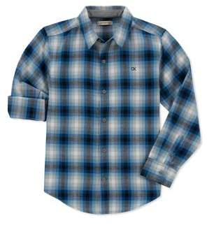 Calvin Klein Jeans Boy's Synergy Check Collared Shirt