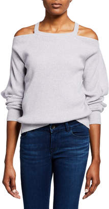 J Brand Mackenzie Cold-Shoulder Cashmere Sweater