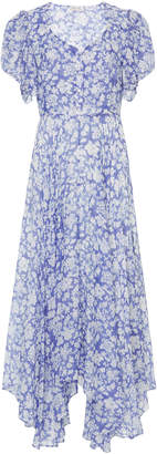 LoveShackFancy Coralie Floral-Print Cotton And Silk-Blend Maxi Dress