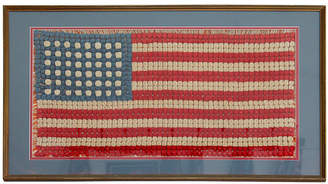 One Kings Lane Vintage Hand-Crocheted 48-Star American Flag