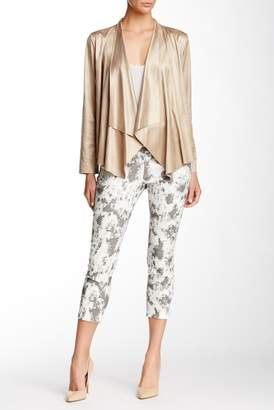 Insight Techno Print Pull-On Cropped Pants