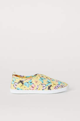 H&M Cotton Sneakers - Yellow